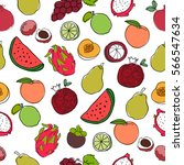 seamless pattern with colorful... | Shutterstock .eps vector #566547634