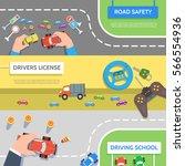 set traffic horizontal banners...   Shutterstock .eps vector #566554936