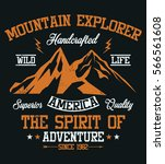 mountain explorer  america ... | Shutterstock .eps vector #566561608