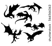 Stylized Image Of Dragons In...