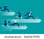business people race. concept... | Shutterstock .eps vector #566567950