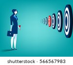 businesswoman and multiple... | Shutterstock .eps vector #566567983