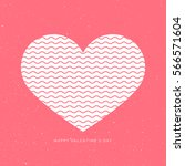 happy valentine's day heart... | Shutterstock .eps vector #566571604
