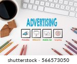 advertising  business concept.... | Shutterstock . vector #566573050