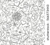 seamless pattern icons.... | Shutterstock .eps vector #566573443