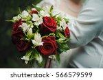 the bride's bouquet | Shutterstock . vector #566579599