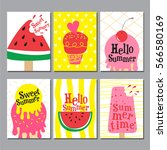 summer   layout design ... | Shutterstock .eps vector #566580169