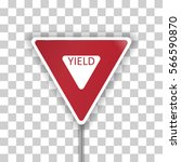 vector illustration of a yield... | Shutterstock .eps vector #566590870