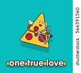 vector illustration of a pizza... | Shutterstock .eps vector #566591560