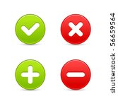 smooth web 2.0 buttons of... | Shutterstock .eps vector #56659564
