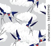 seamless pattern with the... | Shutterstock .eps vector #566595940