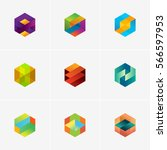 modern colorful abstract vector ... | Shutterstock .eps vector #566597953