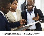 diverse business people meeting ... | Shutterstock . vector #566598994