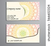 invitation  business card or... | Shutterstock .eps vector #566602324