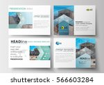 set of business templates for... | Shutterstock .eps vector #566603284