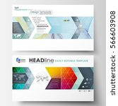 Business templates in HD format for presentation slides. Easy editable layouts in flat style, vector illustration. Colorful design background with abstract shapes and waves, overlap effect. | Shutterstock vector #566603908