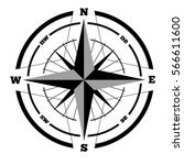compass wind rose hand drawn... | Shutterstock .eps vector #566611600