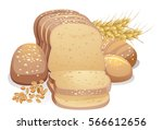 illustration featuring a loaf... | Shutterstock .eps vector #566612656