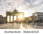 berlin brandenburg gate at... | Shutterstock . vector #566616310