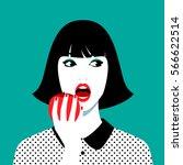 vector illustration of... | Shutterstock .eps vector #566622514