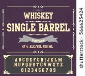 script font typeface single... | Shutterstock .eps vector #566625424