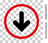 arrow down rounded icon. vector ... | Shutterstock .eps vector #566626003