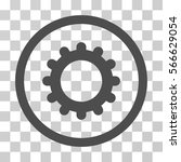 gear rounded icon. vector... | Shutterstock .eps vector #566629054