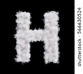 capital letter h font of white... | Shutterstock . vector #566630524