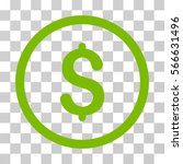 dollar rounded icon. vector... | Shutterstock .eps vector #566631496