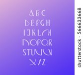vector linear font   simple... | Shutterstock .eps vector #566633668