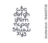 vector linear font   simple... | Shutterstock .eps vector #566633728