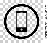 smartphone rounded icon. vector ... | Shutterstock .eps vector #566635729