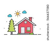 home icon | Shutterstock .eps vector #566637580