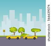 parking taxi  taxi  passenger ... | Shutterstock .eps vector #566639074