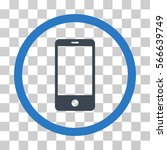smartphone rounded icon. vector ... | Shutterstock .eps vector #566639749