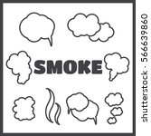steam  cloud and smoke vector... | Shutterstock .eps vector #566639860