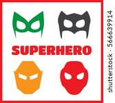 super hero masks set. superhero ... | Shutterstock .eps vector #566639914