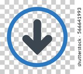 arrow down rounded icon. vector ... | Shutterstock .eps vector #566641993