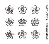 thin line flower icon... | Shutterstock .eps vector #566642398
