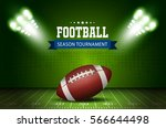 american football field with... | Shutterstock .eps vector #566644498