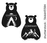 baby bear logo | Shutterstock .eps vector #566645584