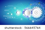 vector illustration hi tech... | Shutterstock .eps vector #566645764