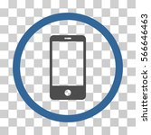 smartphone rounded icon. vector ... | Shutterstock .eps vector #566646463