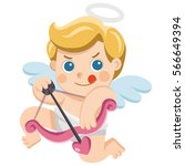 valentine's day illustration of ... | Shutterstock .eps vector #566649394