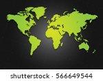 world map vector on the dark... | Shutterstock .eps vector #566649544