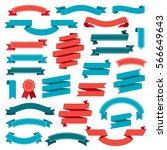 ribbon banners design elements...   Shutterstock . vector #566649643
