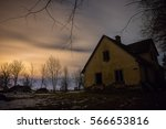 old home and stars | Shutterstock . vector #566653816