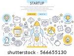 start up banner illustration... | Shutterstock .eps vector #566655130
