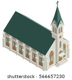 isometric church | Shutterstock .eps vector #566657230