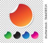 set of blank stickers. empty... | Shutterstock .eps vector #566658514